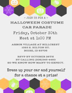 Halloween Costume Car Parade @ Arbor Village at Hillcrest